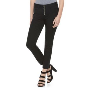 Juniors' Candie's® Audrey Black Zip-Front Pants