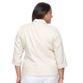 Plus Size Napa Valley Cuffed Blazer