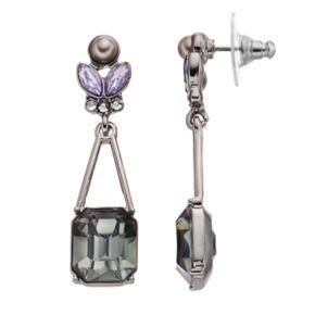 Simply Vera Vera Wang Geometric Stone Nickel Free Drop Earrings