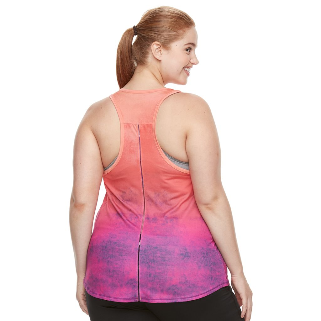 Plus size Tek Gear® Splatter Ombre Easy Performance Tank