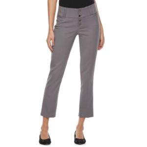 Juniors' Candie's® Button Front Crop Pants
