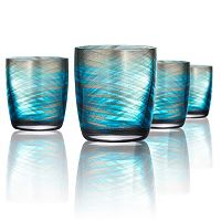 Artland Misty 4 pc Double Old-Fashioned Glass Set