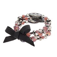 Simply Vera Vera Wang Purple Beaded Tie Multi Strand Stretch Bracelet
