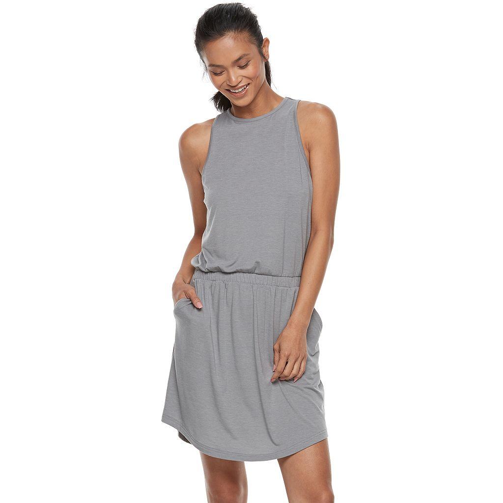 Petite Tek Gear® Jersey Drop-Waist Dress