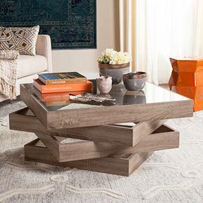 Safavieh Contemporary Geometric Coffee Table
