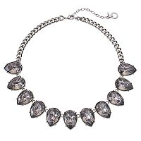 Simply Vera Vera Wang Gray Teardrop Statement Necklace