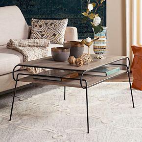Safavieh Mid-Century Modern 2-Tier Coffee Table
