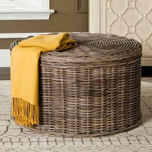 Safavieh Rustic Wicker Storage Coffee Table