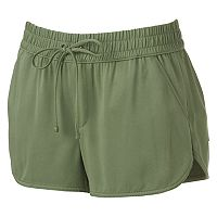 Juniors' SO® Dolphin Hem Twill Shortie Shorts