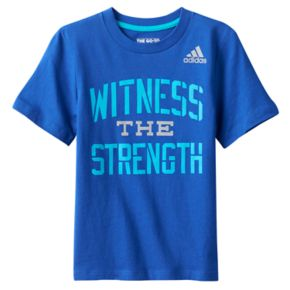 """Toddler Boy adidas """"Witness the Strength"""" Graphic Tee"""