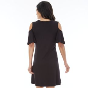 Women's AB Studio Cold Shoulder Shift Dress