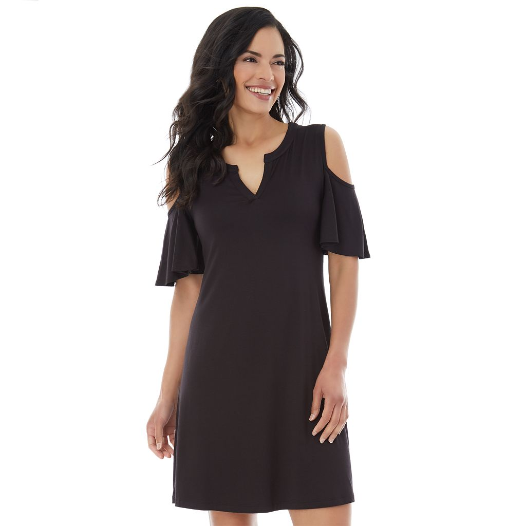 Women's AB Studio Cold Shoulder Shift Dress