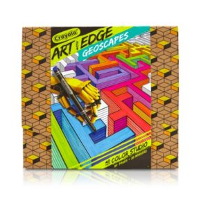 Crayola Art with Edge Geoscapes Coloring Kit