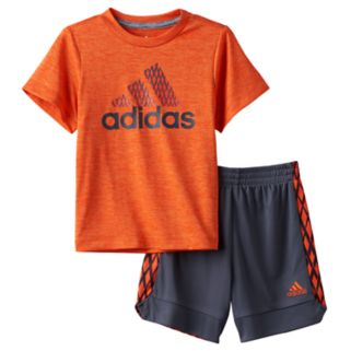 "Toddler Boy adidas ""Dribble, Shoot & Score"" Basketball Tee & Shorts Set"