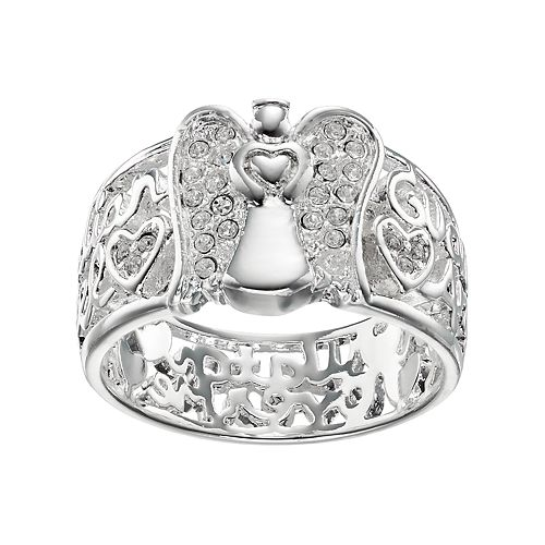 072a31a9e love this life Crystal Guardian Angel Ring