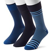 Men's 3-pack Marc Anthony Striped & Solid Microfiber Dress Socks