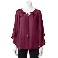 Women's Jennifer Lopez Angel Sleeve Peasant Top