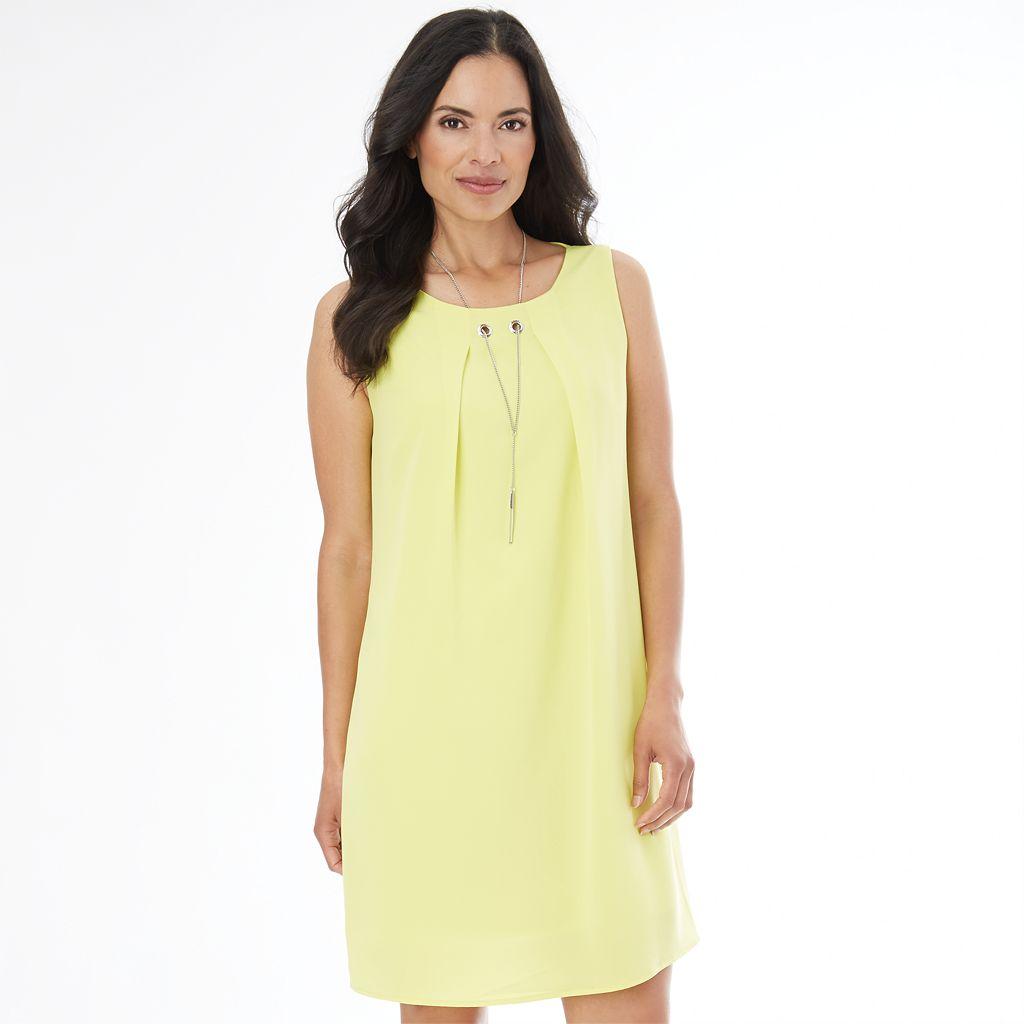 Women's AB Studio Necklace Shift Dress