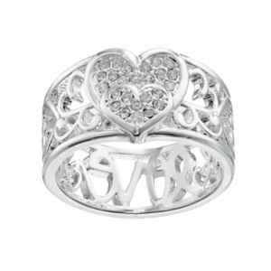 love this life Crystal Heart Ring