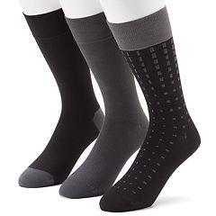 Men's 3-pack Marc Anthony Patterned & Solid Dress Socks
