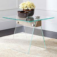 Safavieh Modern Industrial Glass End Table