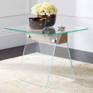 Safavieh Modern Industrial Glass End Table
