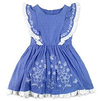 Girls 4-6x Nanette Embroidered Swiss Dot Dress