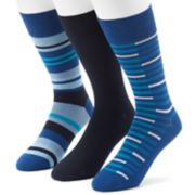 Men's 3-pack Marc Anthony UltraFresh Solid & Striped Dress Socks