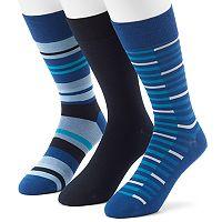 Men's 3-pack Marc Anthony UltraFresh Solid & Striped Dress Socks