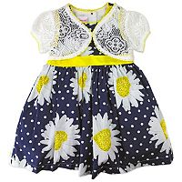 Toddler Girl Nannette Floral Dress & Lace Shrug Set
