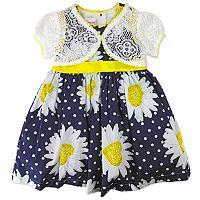Toddler Girl Nannette Floral Dress & Lace Shrug Set