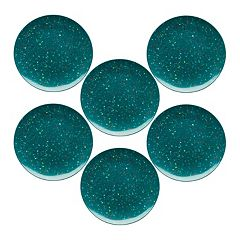 Zak Designs Confetti 6 pc Melamine Dinner Plate Set