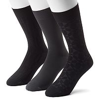 Men's 3-pack Marc Anthony Microfiber Dress Socks