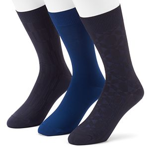 Men's 3-pack Marc Anthony Microfiber Dress Socks