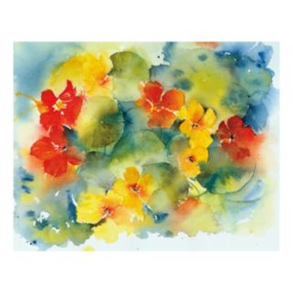 Nasturtiums Canvas Wall Art