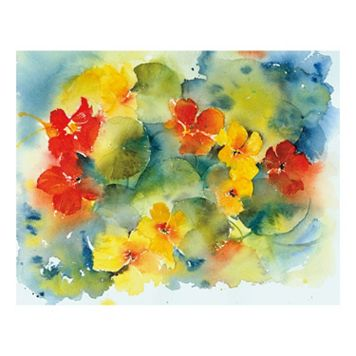 Nasturtiums Canvas Wall Art