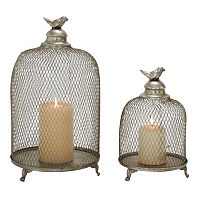 Birdcage Candle Holder 2-piece Set