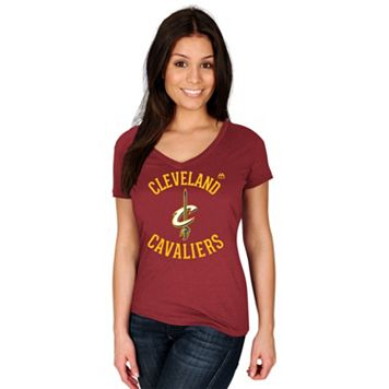 Women's Majestic Cleveland Cavaliers Get Aggressive Tee
