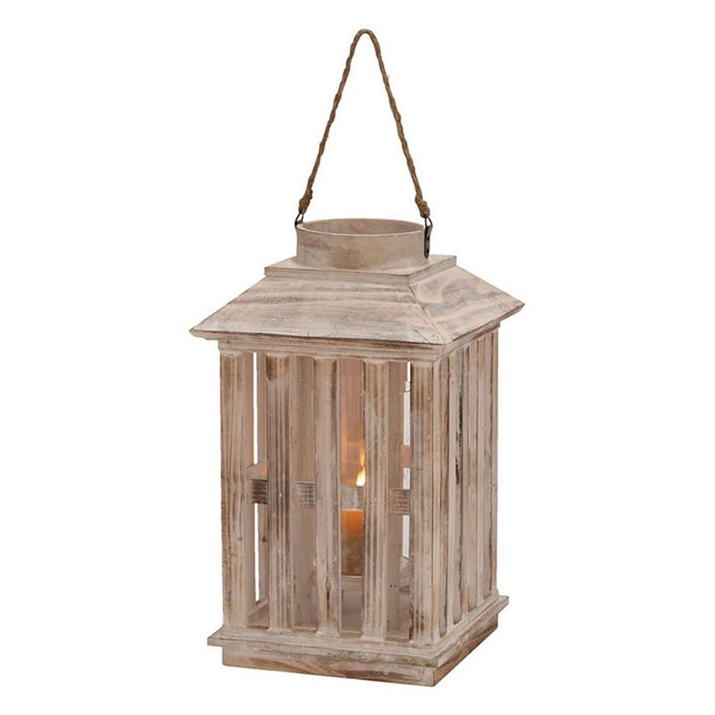 Updated Tradition Slatted Lantern Candle Holder