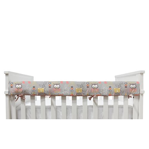 Lolli Living Pink Oasis Front Crib Rail Cover