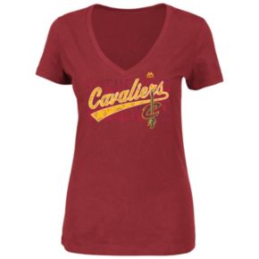 Women's Majestic Cleveland Cavaliers That's the Stuff Tee