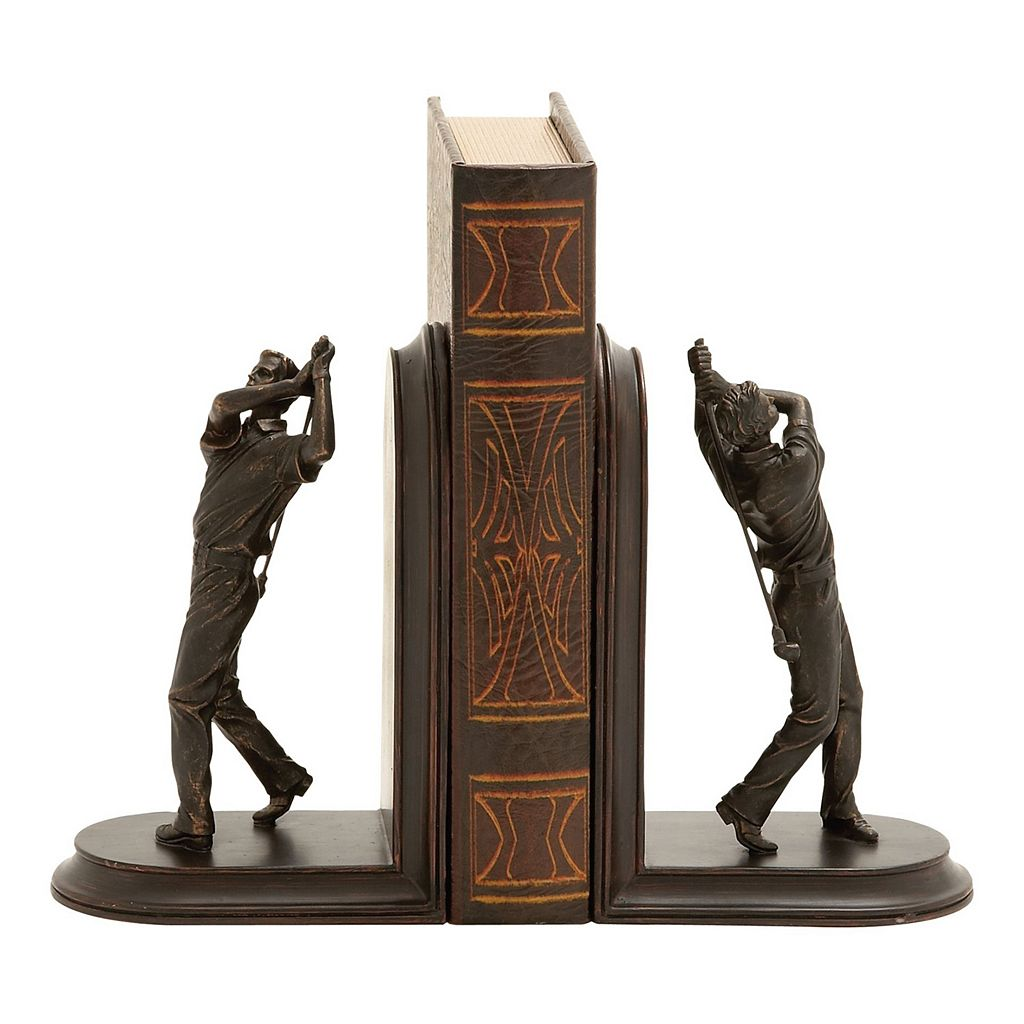 Golf Swing Bookends 2-piece Set