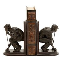 Golfer Bookends 2 pc Set