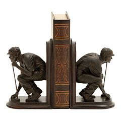 Golfer Bookends 2-piece Set