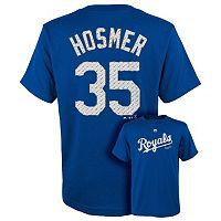 Boys 8-20 Majestic Kansas City Royals Eric Hosmer Metal Grid Player Name and Number Tee