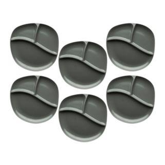 Zak Designs Moso Dovor 6-pc. Three-Section Plate Set