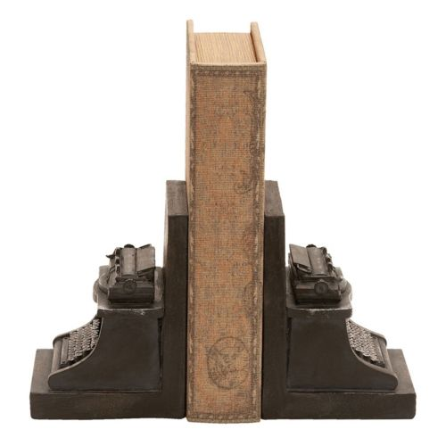 Typewriter Bookends 2-piece Set