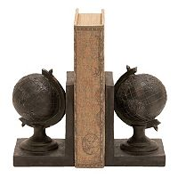 Rustic Globe Bookends 2 pc Set