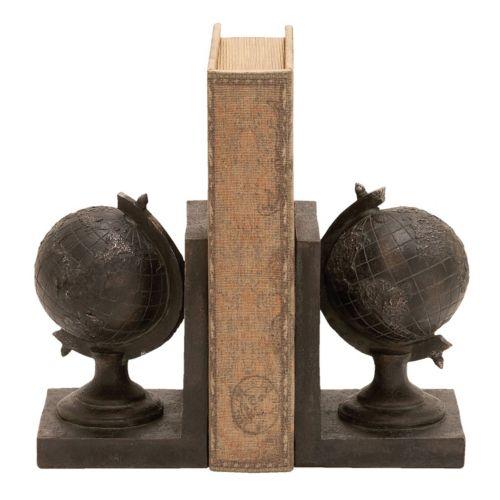 Rustic Globe Bookends 2-piece Set