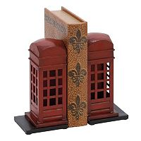 Red Telephone Booth Bookends 2-piece Set